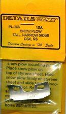 HO SCALE:  DETAILS WEST  256:  SNOW PLOW...CSX / NS