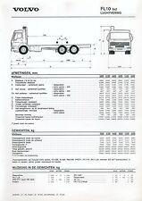 Volvo FL 10 6x2 Luchtvering Prospekt Technische Daten NL 1/95 brosjyre 1995 bil
