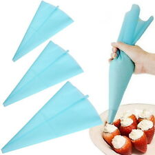 Silicone Reusable Piping Cream Pastry Bag Cake Decorating Tool UE