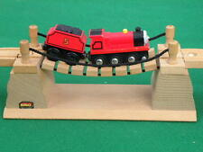 vintage GENUINE BRIO wobbly RICKETY ROPE BRIDGE for Thomas WOODEN train TOY set