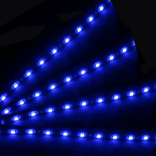 4X Blue 15 LED 30cm Car Auto Grill Flexible Waterproof Strip Light SMD 12V LX-4