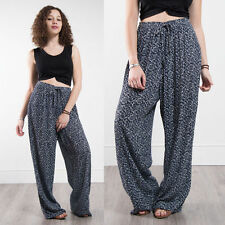 WOMENS VINTAGE 90'S PATTERNED TROUSERS HIGH WAIST CASUAL SUMMER FLORAL 14 16