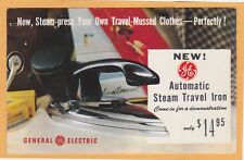 Advertising Postcard - GE Steam Travel Iron with Kodak Ektachrome Film & Camera