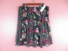SK09479- NWT RALPH LAUREN Woman Polyester Paneled Flared Skirt Floral Sz 16 $125