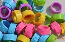 24 SOFT THICK CHEW RINGS BIRD PARROT TOY PARTS CRAFTS FAVORS