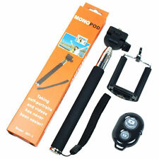 Bluetooth Remote Shutter Selfie Stick Extendable Handheld Monopod For Cell Phone