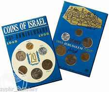 "Israel - ""COINS OF ISRAEL 20th ANN. 1948-1968 JERUSALEM"" Specimen Set !"