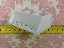 Dollhouse Miniature kitchen/Home/Room Furniture White Wood Shelf w/ Hooks 1:12