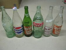 6 pc Family Size Large Empty Soda Bottles Coca Cola Pepsi Sparkle Time Blum's