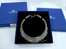 Swarovski Slake Pulse Necklace, Dark gray Crystal Authentic MIB 5244212