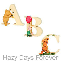 CLASSIC WINNIE THE POOH ALPHABET LETTERS - TIGGER PIGLET EEYORE FIGURINE LETTER