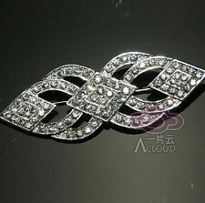 RHINESTONE CRYSTAL BRIDAL WEDDING SASH BUCKLE CRAFT RHOMBUS BROOCH PIN
