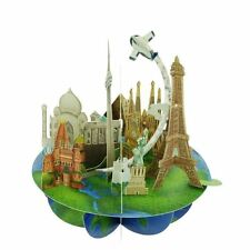 Santoro 3D Pirouette Greeting Card - Travel The World