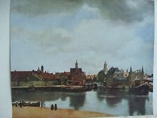 ANTIQUE PRINT C1930S THE VIEW OF DELFT BY JAN VERMEER OF DELFT VINTAGE ART PRINT
