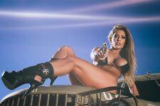 Retro Car Sexy Hot Girl Photo Print Silk POSTER 13x19