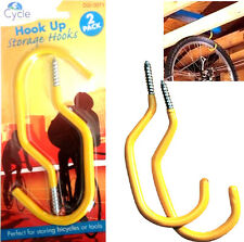 2X BIKE BICYCLE CYCLE WALL CEILING HOOK HOLDER LADDER HOOK TOOL STORAGE HOOK