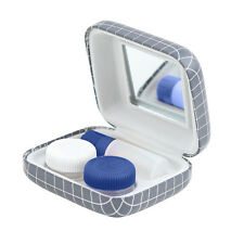 Kikkerland Travel Contact Lens Kit Contact Lens Case Solution Bottle & Mirror