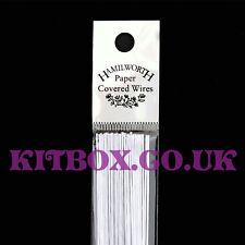 Blanco florista para Decoración de Pasteles y Pastelería cables Calibre 26, 50 por paquete