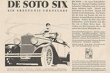 Y4350 Automobile DE SOTO SIX Chrysler - Pubblicità d'epoca - 1929 Old advert