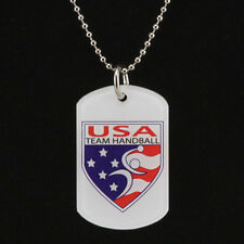 USA Olympics TEAM HANDBALL Dog Tag Necklace licensed by National Team New!