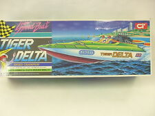 "Vintage TIGER DELTA 18"" Motorized Super Speedboat - R/C capable - Mint in Box"
