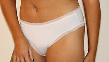 M & S Size 8 NO VPL Hi Leg Stretchy Knickers Panties Briefs White