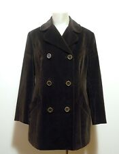 D&G DOLCE & GABBANA Cappotto Giaccone Donna Velluto Woman Velvet Coat Sz.M - 44