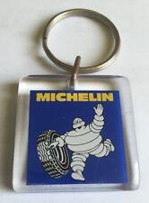 RARE PORTE CLES MICHELIN CARRE EN PLASTIQUE @ 1980 @ BIBENDUM @ UNIFACE