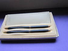 CROSS CENTURY BLACK LADIES LINE BALL-POINT PEN & PENCIL SET WITH LEATHER POUCH