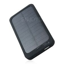 New 5000mAh Portable Solar Powered Charger Rechargeable Mobile Phone Power Bank