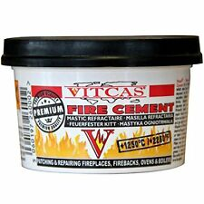VitCas Premium Black Fire Cement - 500G For Fireplaces, Stoves, Boilers