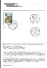 ITALIA 1998 CHIRURGIA GENERALE  BOLLETTINO COMPLETO DI FRANCOBOLLI  FDC
