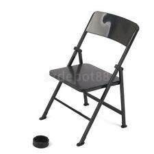 """1/6 Folding Chair for Ultimate Soldier Bbi Dragon 12"""" Action Figures Black"""
