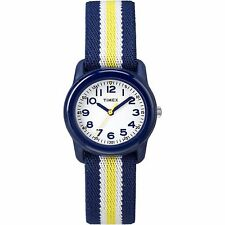 Timex TW7C05800, Kid's Blue Nylon Striped Elastic Watch, TW7C058009J