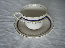 C4 Pottery Johnson Bros Windsor Ware Blue Cup & Saucer 14x8cm 4B5C