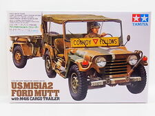 Lot 17863 | tamiya 35130 u.s. m151a2 Ford Mutt with Caravane 1:35 Kit nouveau OVP