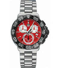 ORIGINAL TAG HEUER FORMULA 1 CAH1112.BA0850 RED CHRONOGRAPH MEN'S SWISS WATCH