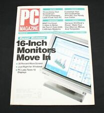 PC Magazine March 26 1991 Vol 10 #6 16 Inch Monitors Move In
