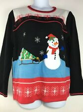 Cute Ugly Snowman Holiday Christmas Pullover Sweater XXL (20)