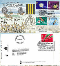 20 AUGUST 2002 PETER PAN /  CAPTURE OF COOMASSIE HANDSIGNED LIMITED EDIT COVER