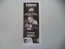 advertising Pubblicità 1972 CAMOMILLA FILTROFIORE BONOMELLI