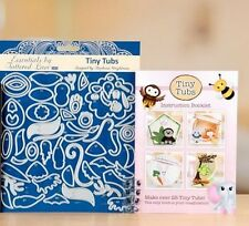 Tattered lace Tiny Tubs 68 die set booklet + eye stamps cute animals bee chick