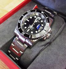 "Swiss Watch Int. Submariner ""Legend"" Deep Blue Divers Automatic Black 200mtr"