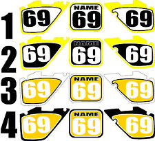 1999-2000 Suzuki RM125 250 RM 125 250 Number Plates Side Panels Graphics Decal