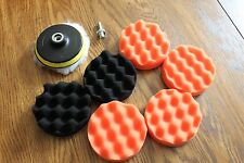 9pcs 4 inch Polishing Sponge Pad Drill Adapter Kit For Car Auto Polisher New