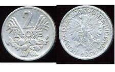 POLAND  POLOGNE 2  zlote  1958  ( etat )