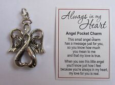 i I love you ALWAYS IN MY HEART infinity angel pocket charm ganz pendant