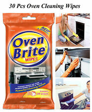 30 PCS OVEN BRITE WIPES KITCHEN CLEANING HOBS MICROWAVES OVEN CLEANER WIPES NEW