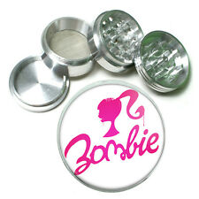"""2.5"""" 4PC Aluminum Sifter Magnetic Herb Grinder Zombie Design-001 Zombie Barbie"""