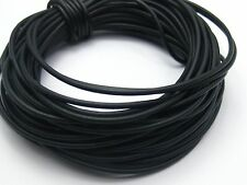 32.8 Feets Black 2mm Solid Rubber Jewelry Cord String for Pendants
